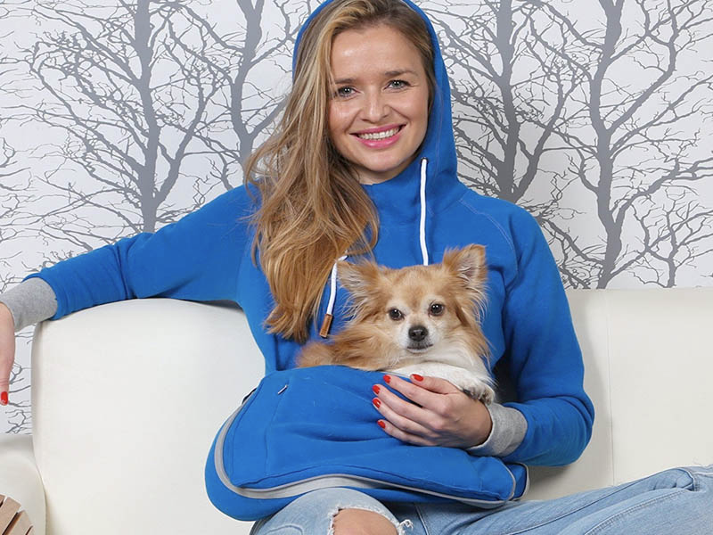 Hoodie-with-kangaroo-pouch 10 Unique Luxury Gifts for Dogs That Amaze Everyone