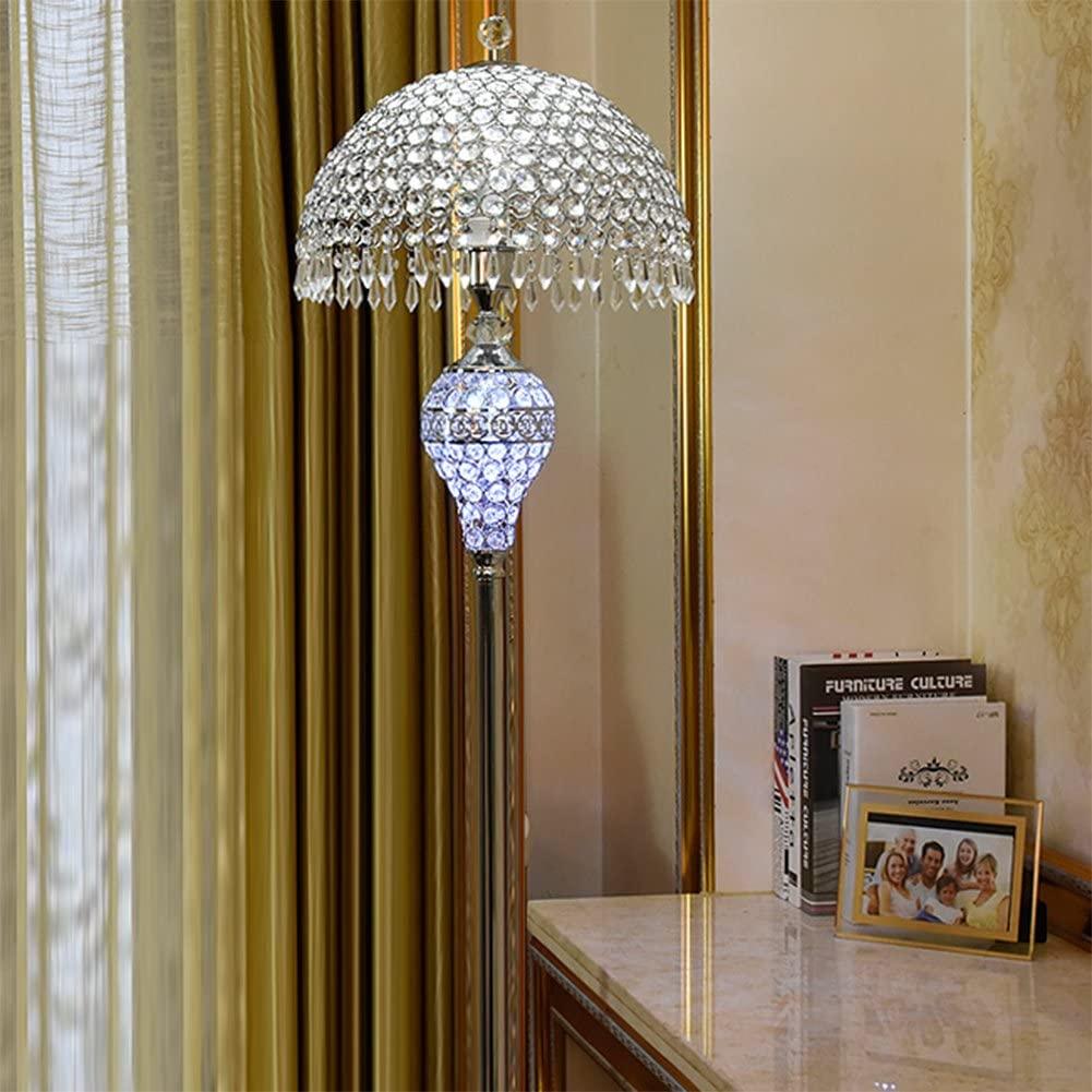 Hsyile-Lighting-KU300189-Luxury-Wedding-European-Crystal-Floor-Lamp 15 Unique Artistic Floor Lamps to Light Your Bedroom
