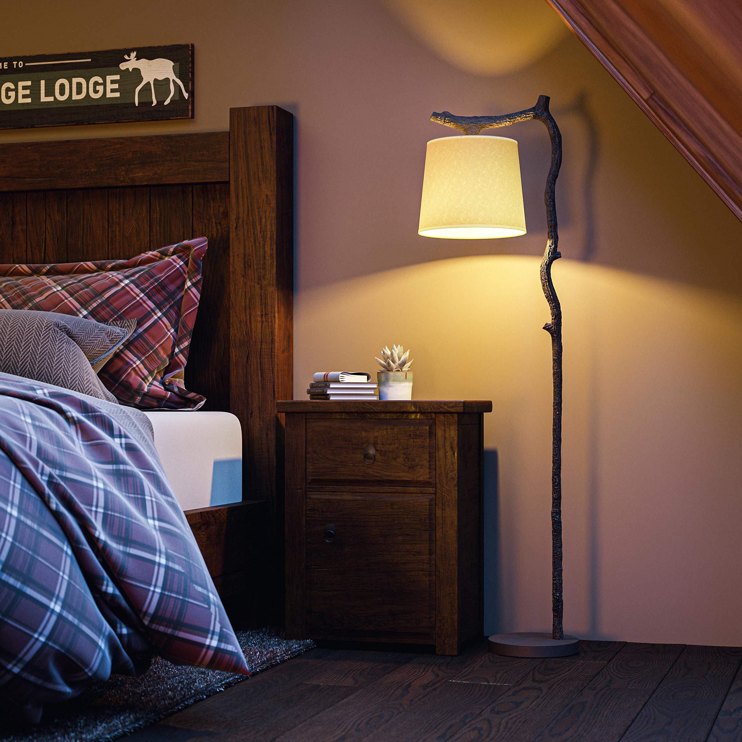 Kenroy-Home-32452BRZD-Rustic-Floor-Lamp. 15 Unique Artistic Floor Lamps to Light Your Bedroom