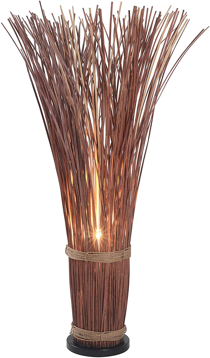 Kenroy-Home-Casual-Floor-Lamp46-Inch-Height-with-Natural-Reed-Finish 15 Unique Artistic Floor Lamps to Light Your Bedroom