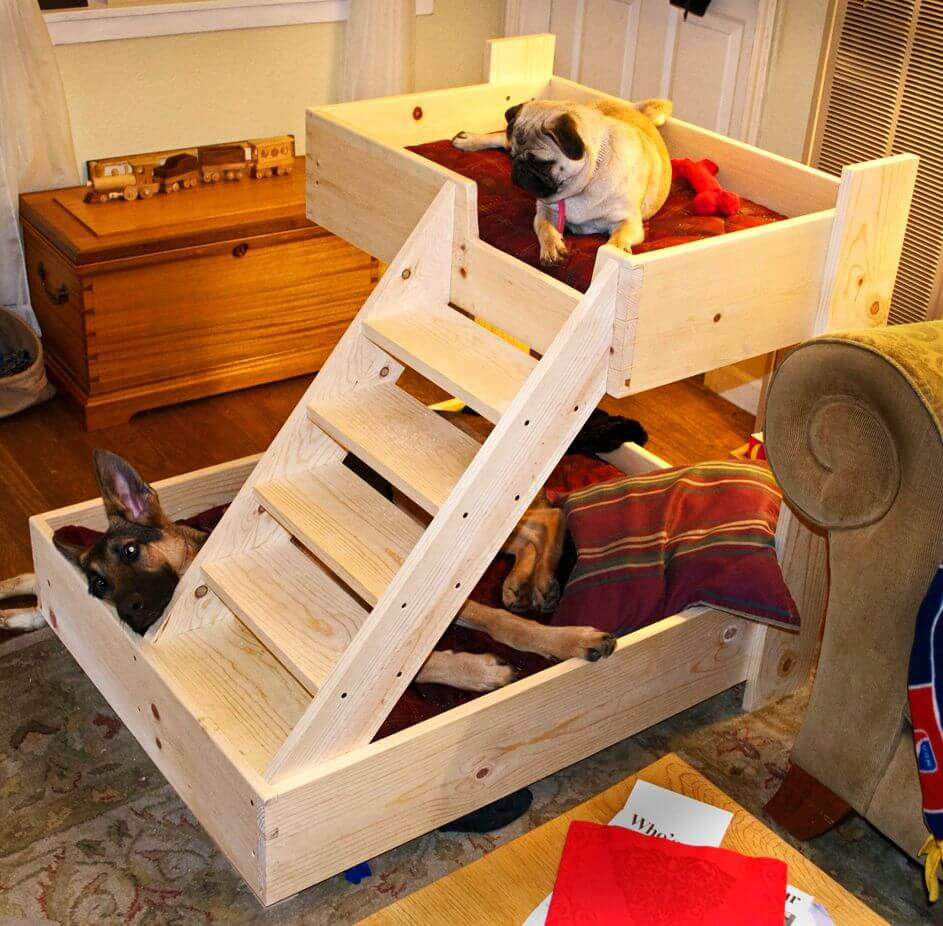 Ladder-bed +80 Adorable Dog Bed Designs That Will Surprise You
