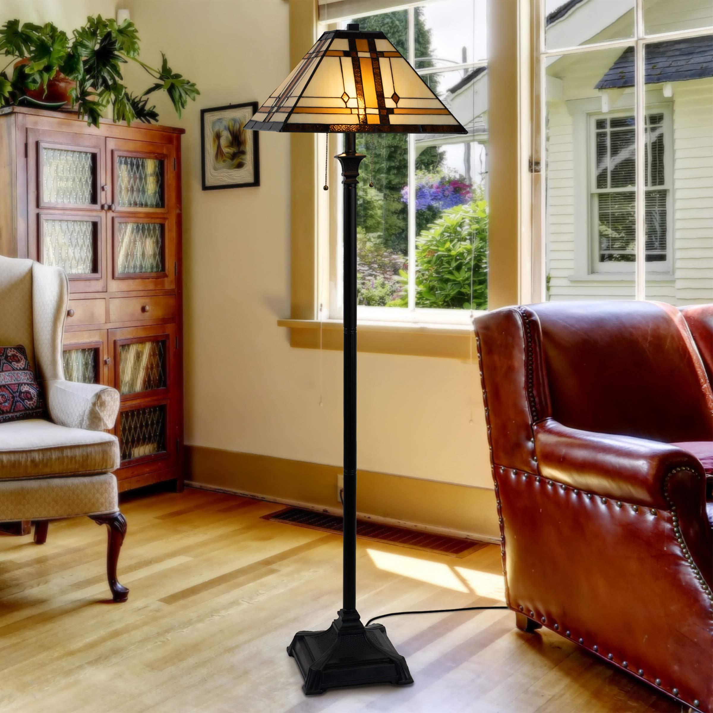 Lavish-Home-72-Tiff-7-Tiffany-Style-Floor-Lamp-1 15 Unique Artistic Floor Lamps to Light Your Bedroom