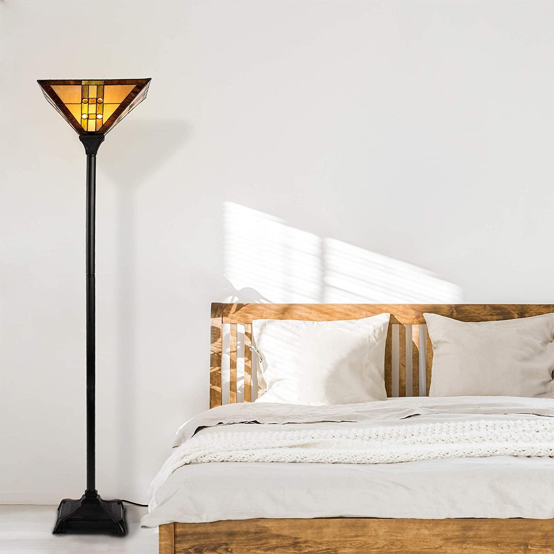 Lavish-Home-72-Tiff-7-Tiffany-Style-Floor-Lamp 15 Unique Artistic Floor Lamps to Light Your Bedroom
