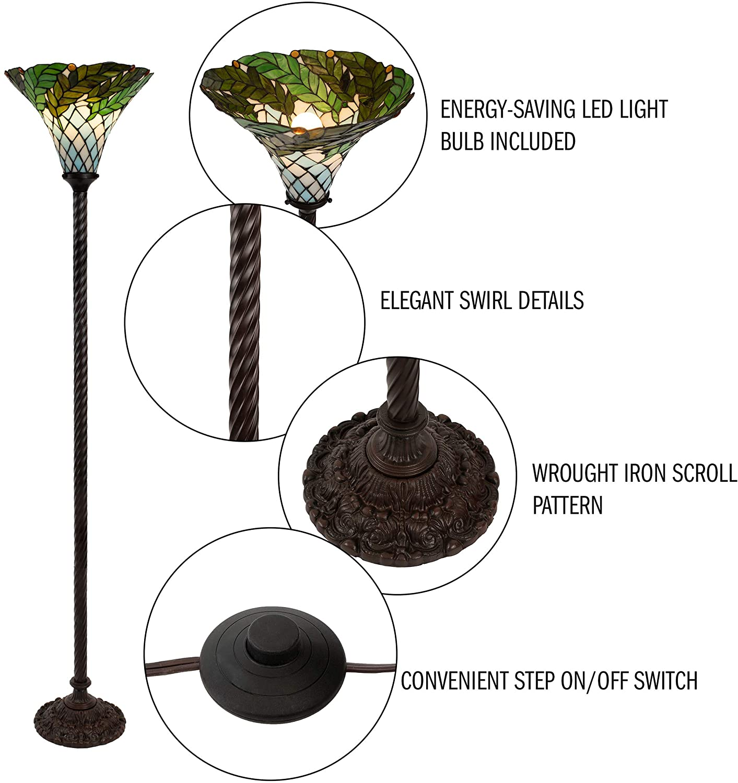 Lavish-Home-72-Tiff-8-Tiffany-Style-Floor-Lamp.-1 15 Unique Artistic Floor Lamps to Light Your Bedroom