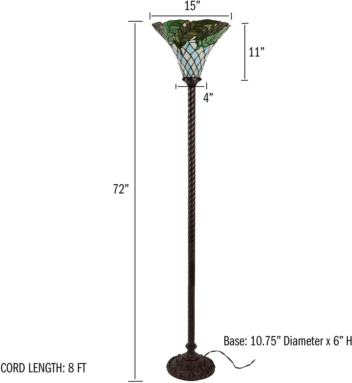 Lavish-Home-72-Tiff-8-Tiffany-Style-Floor-Lamp. 15 Unique Artistic Floor Lamps to Light Your Bedroom