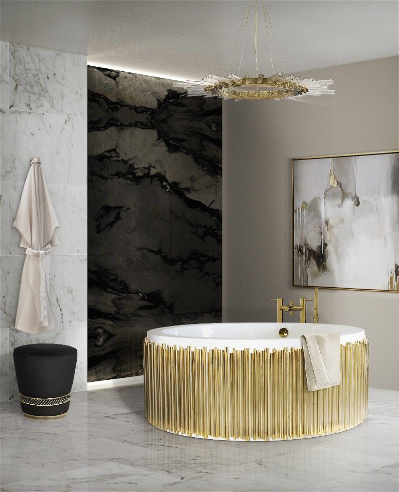 Metallic-Accents-1 Best +60 Ideas to Enhance Your Bathroom's Luxuriousness