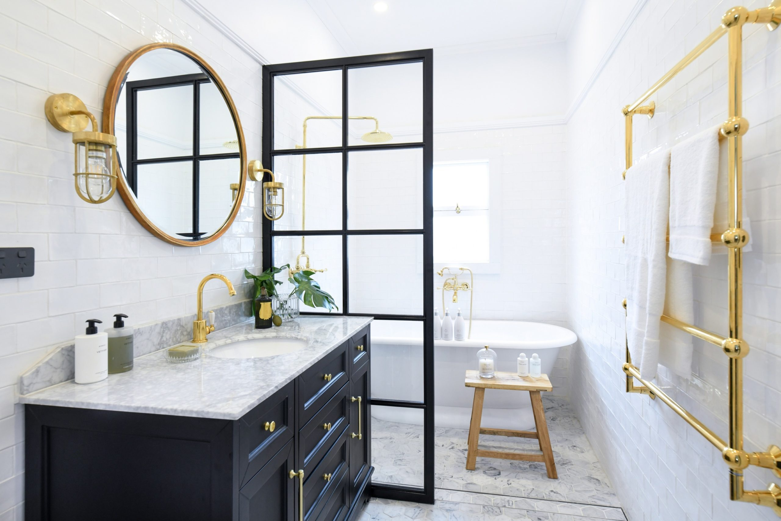 Metallic-Accents..-scaled Best +60 Ideas to Enhance Your Bathroom's Luxuriousness