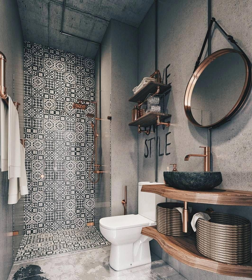 Metallic-Accents. Best +60 Ideas to Enhance Your Bathroom's Luxuriousness