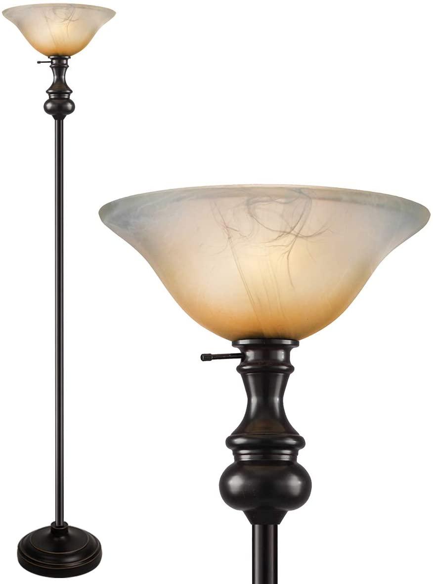 Modern-Shirley-Torchiere-Floor-Lamp 15 Unique Artistic Floor Lamps to Light Your Bedroom