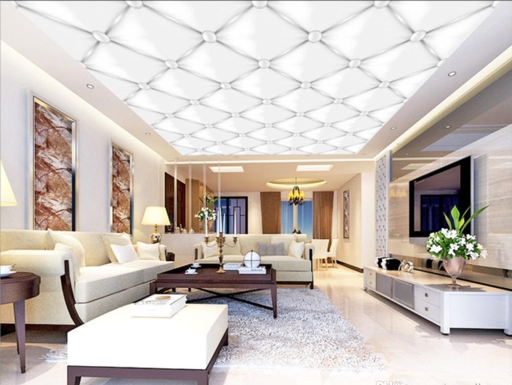 Modern-wallpaper-ceiling-1 +70 Unique Ceiling Design Ideas for Your Living Room