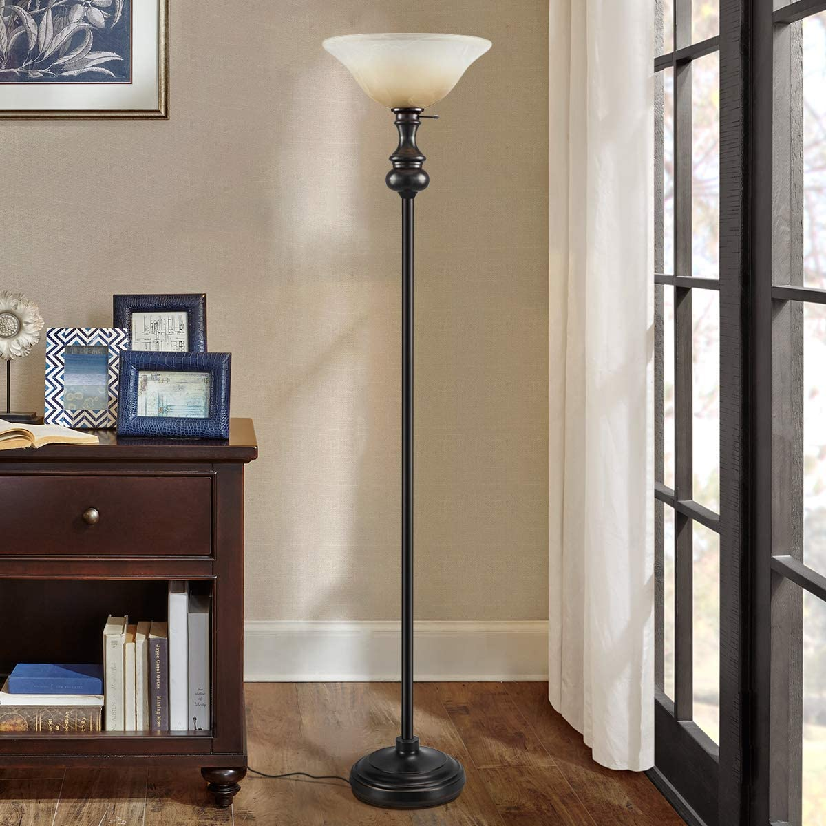 On-each-Modern-Shirley-Torchiere-Floor-Lamp. 15 Unique Artistic Floor Lamps to Light Your Bedroom