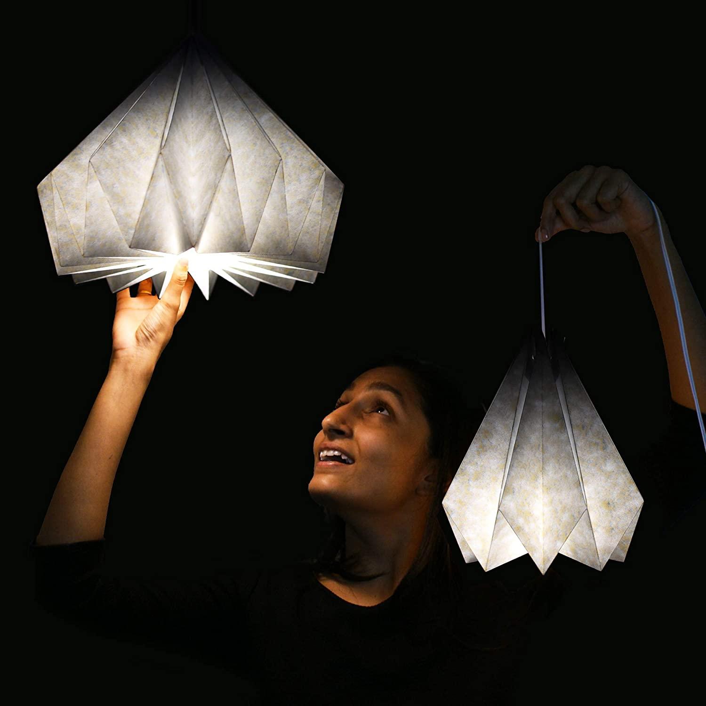 Paper-Origami-Lamp-Shade 10 Unique & Wonderful Lampshade Ideas