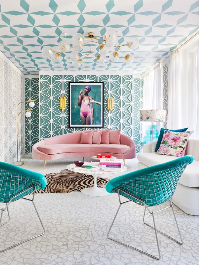Patterned +70 Unique Ceiling Design Ideas for Your Living Room