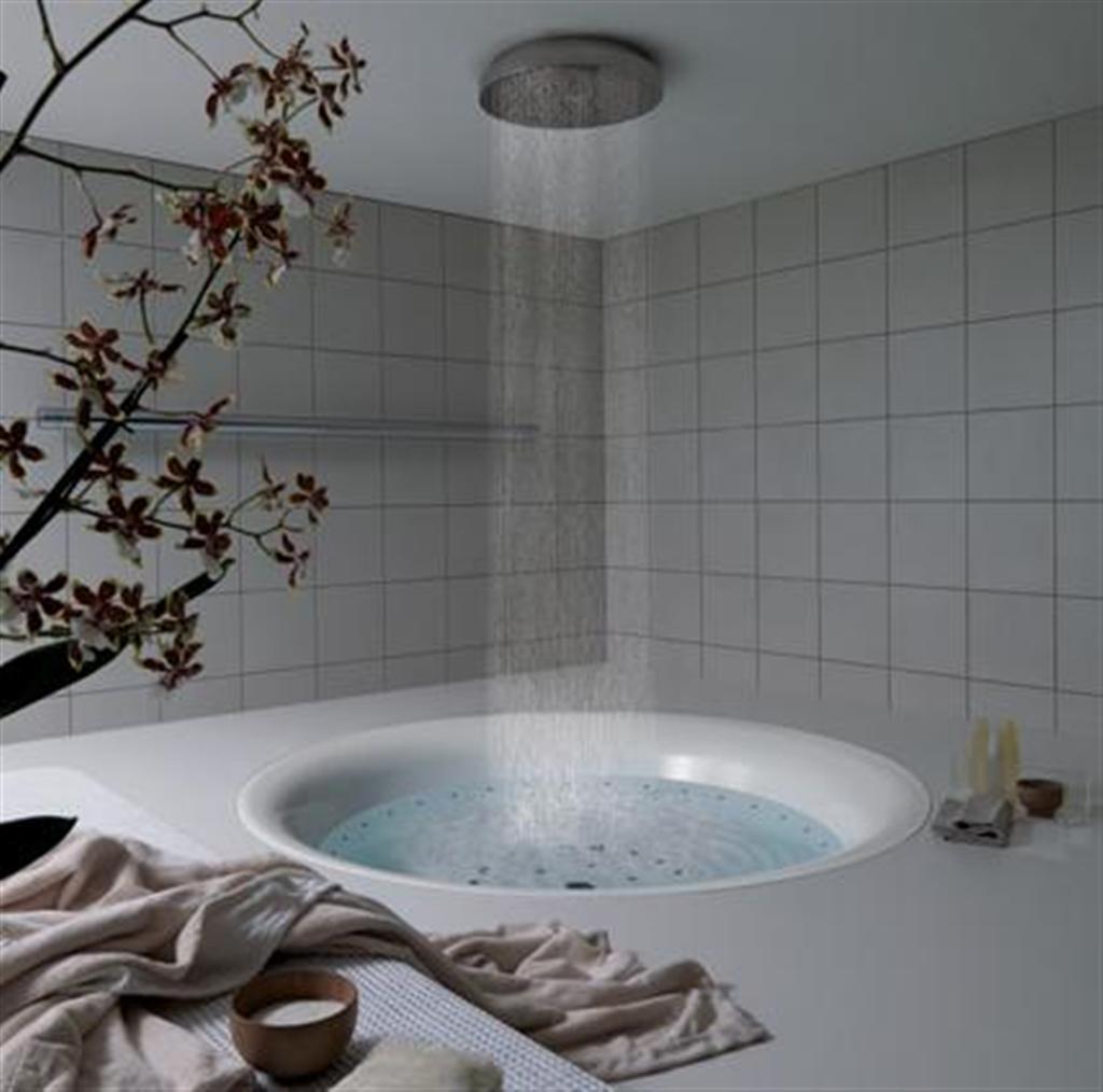 Rain-shower-and-tub.. Best +60 Ideas to Enhance Your Bathroom's Luxuriousness