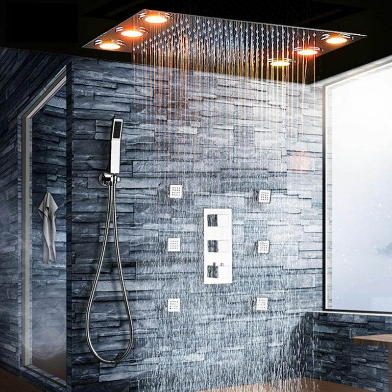 Rain-shower-and-tub. Best +60 Ideas to Enhance Your Bathroom's Luxuriousness