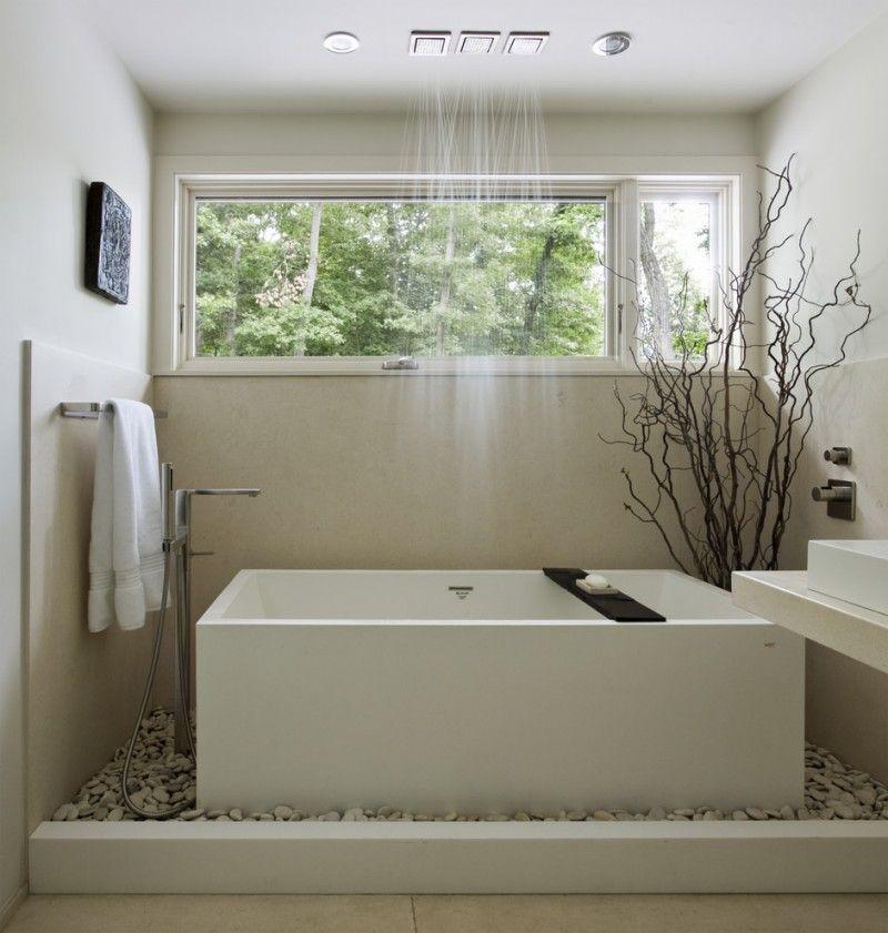 Rain-shower-and-tub Best +60 Ideas to Enhance Your Bathroom's Luxuriousness