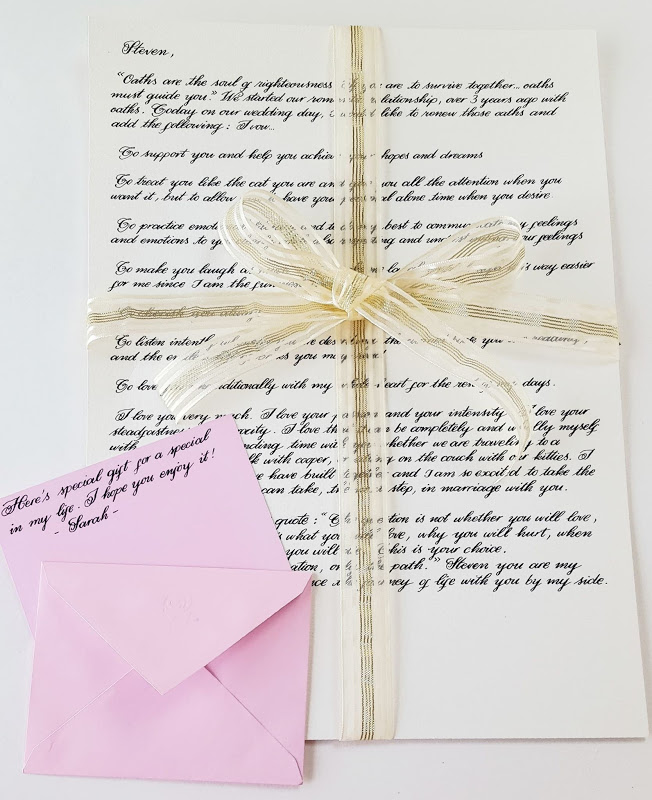 Romantic-Anniversary-Letter 6 Creative Wedding Anniversary Gift Ideas