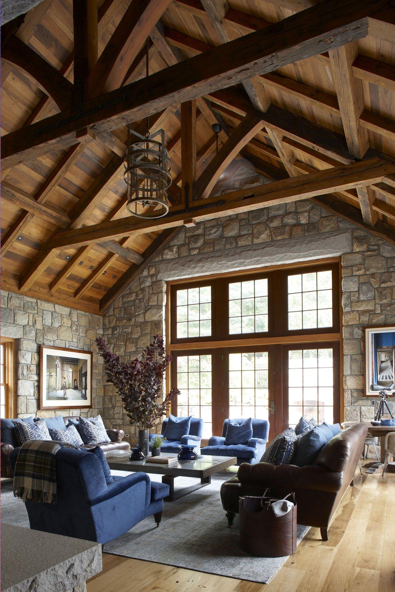 Rustic-wooden-design. +70 Unique Ceiling Design Ideas for Your Living Room