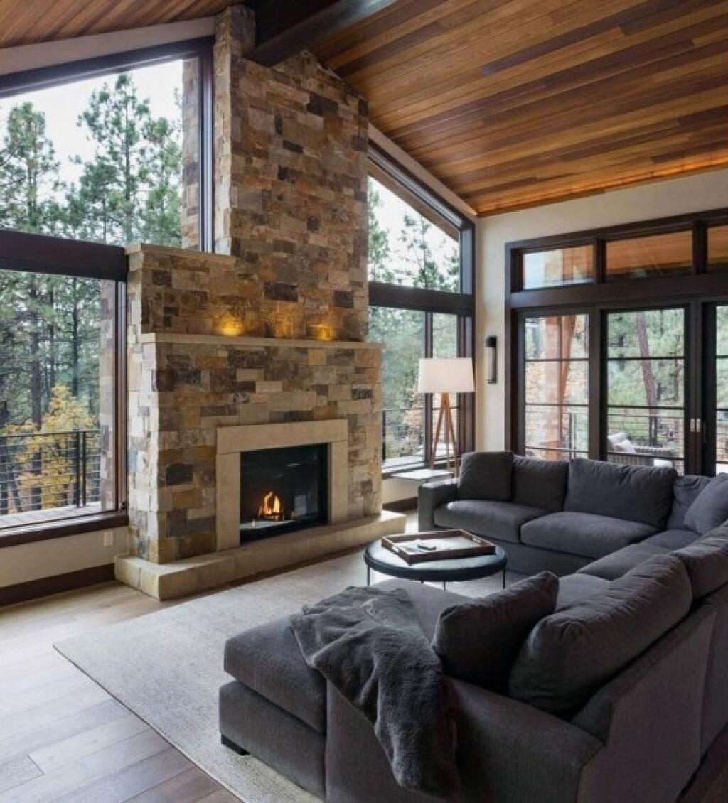 Rustic-wooden-design +70 Unique Ceiling Design Ideas for Your Living Room