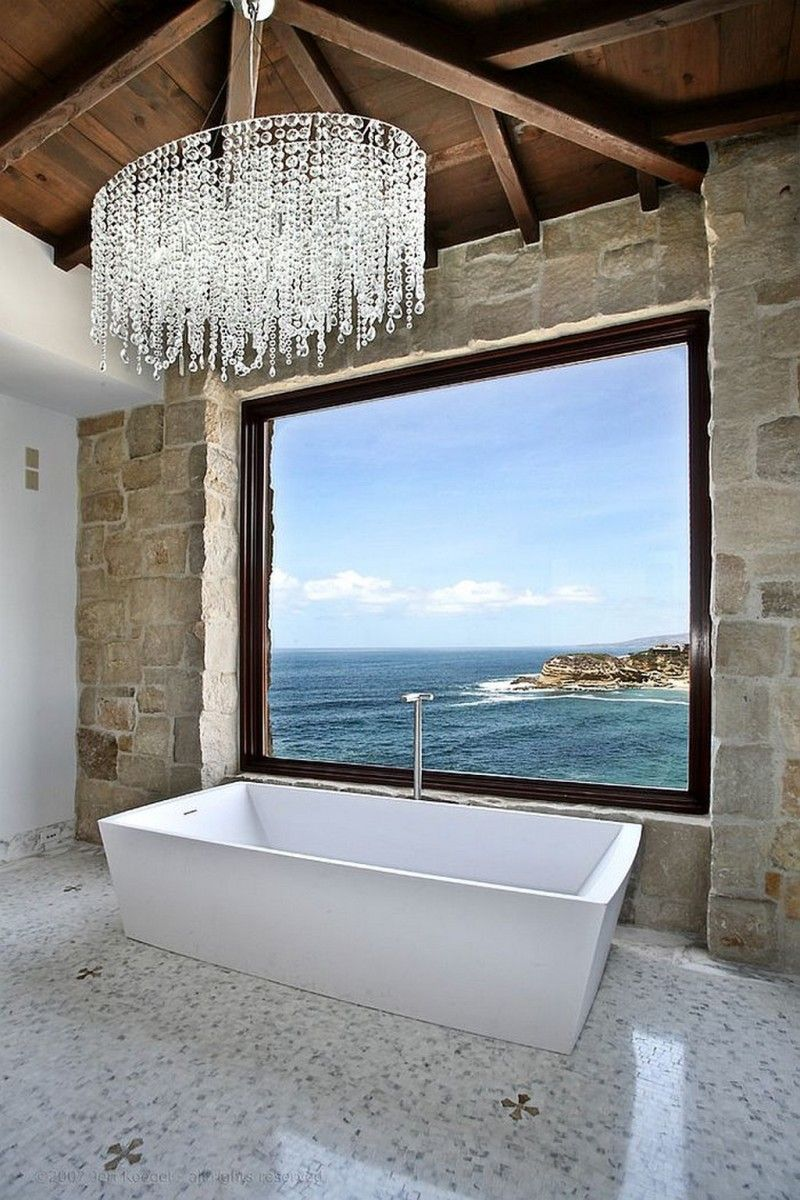 Sea-View Best +60 Ideas to Enhance Your Bathroom's Luxuriousness