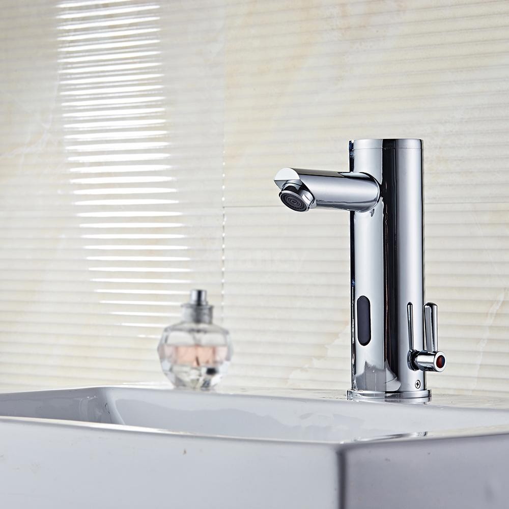 Sensor-sink-faucet.. Best +60 Ideas to Enhance Your Bathroom's Luxuriousness
