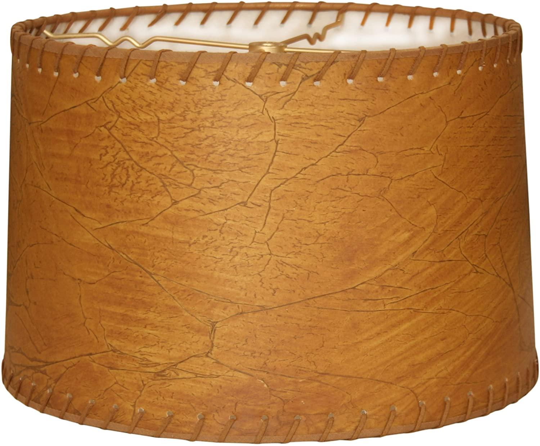 Shallow-Leather-Lamp-Shade 10 Unique & Wonderful Lampshade Ideas