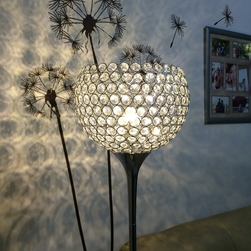Surpars-House-Ball-Shape-Crystal-Floor-Lamp-Silver 15 Unique Artistic Floor Lamps to Light Your Bedroom
