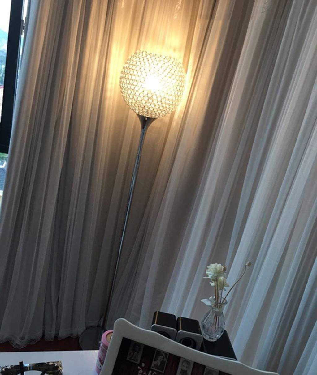 Surpass-House-Ball-Shape-Crystal-Floor-Lamp-Silver. 15 Unique Artistic Floor Lamps to Light Your Bedroom