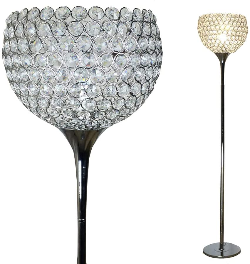Surpass-House-Ball-Shape-Crystal-Floor-Lamp-Silver 15 Unique Artistic Floor Lamps to Light Your Bedroom