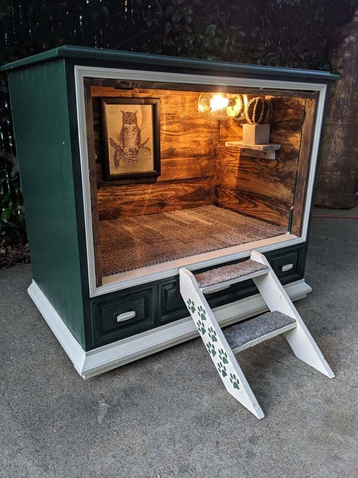 TV-cabinet-Dog-Bed-Design-2 +80 Adorable Dog Bed Designs That Will Surprise You