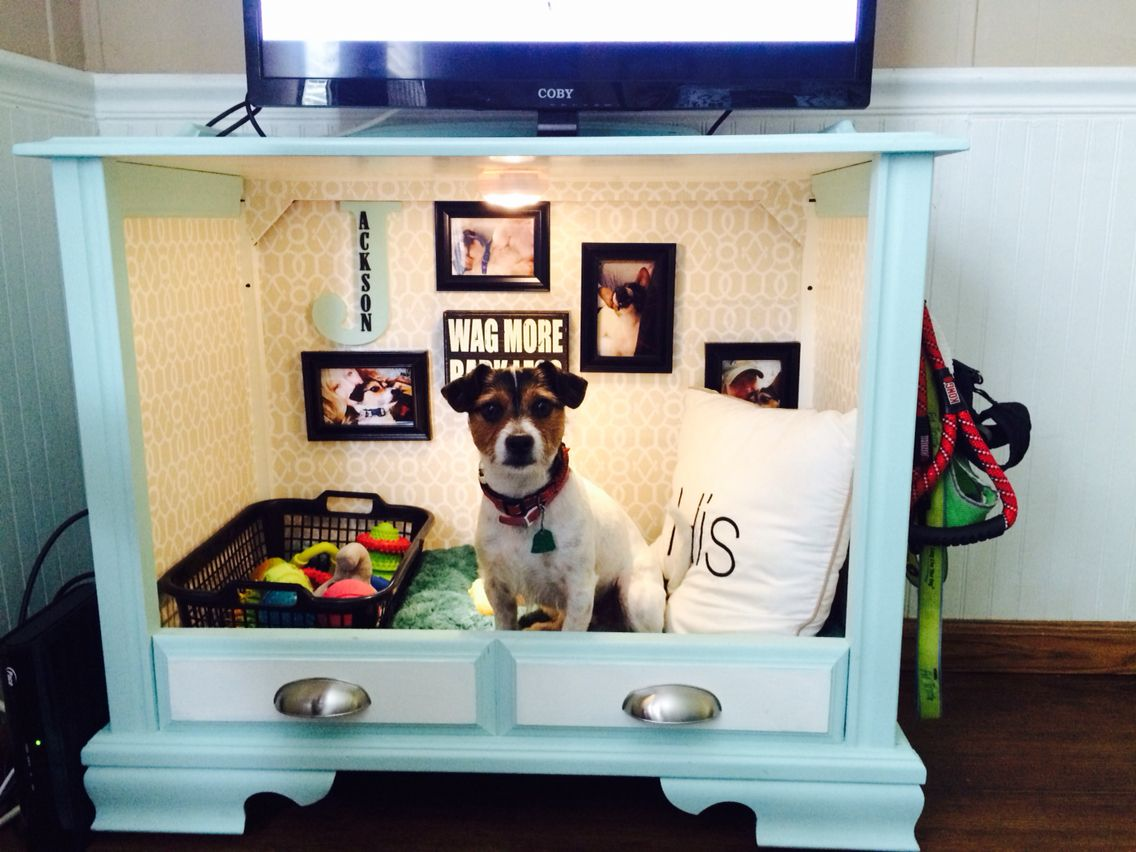 TV-cabinet-Dog-Bed-Design.-1 +80 Adorable Dog Bed Designs That Will Surprise You