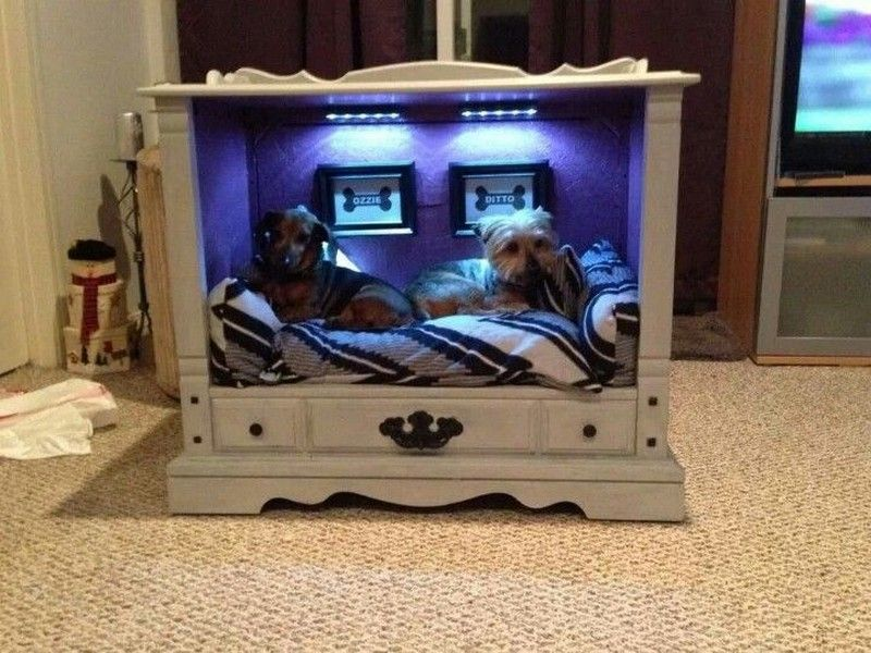 TV-cabinet-Dog-Bed-Design.. +80 Adorable Dog Bed Designs That Will Surprise You