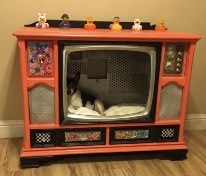 TV-cabinet-Dog-Bed-Design. +80 Adorable Dog Bed Designs That Will Surprise You