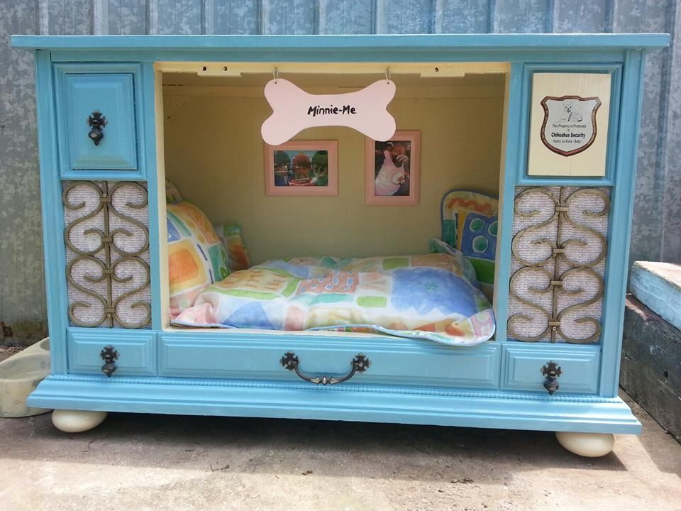 TV-cabinet-Dog-Bed-Designs +80 Adorable Dog Bed Designs That Will Surprise You