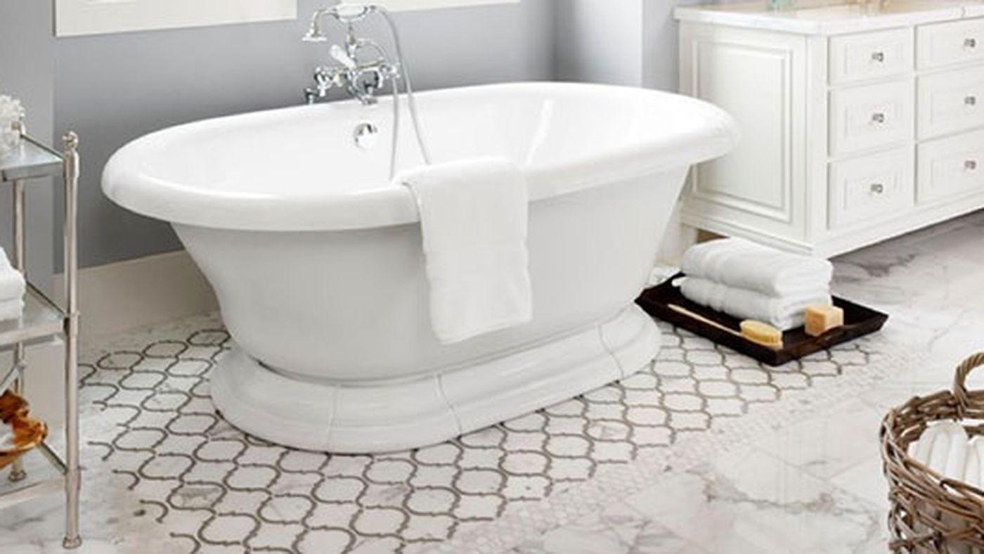 Tile-rug-1 Best +60 Ideas to Enhance Your Bathroom's Luxuriousness