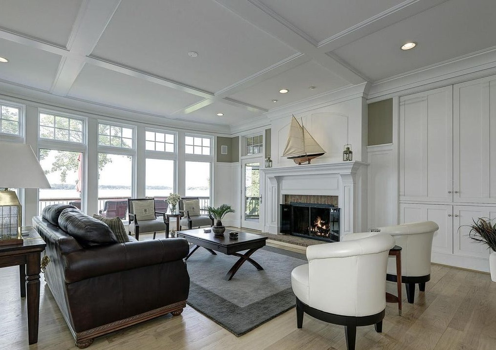 Wainscoting +70 Unique Ceiling Design Ideas for Your Living Room