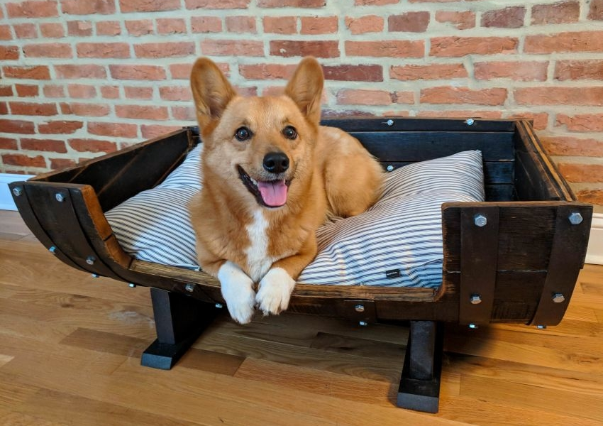 Wine-barrel-bed-1 +80 Adorable Dog Bed Designs That Will Surprise You