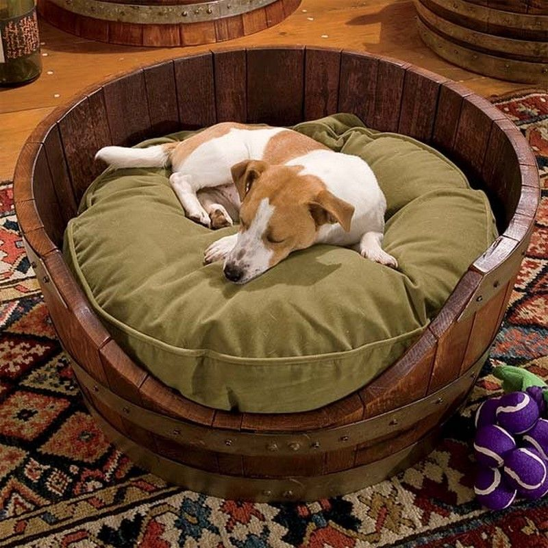 Wine-barrel-bed.-1 +80 Adorable Dog Bed Designs That Will Surprise You