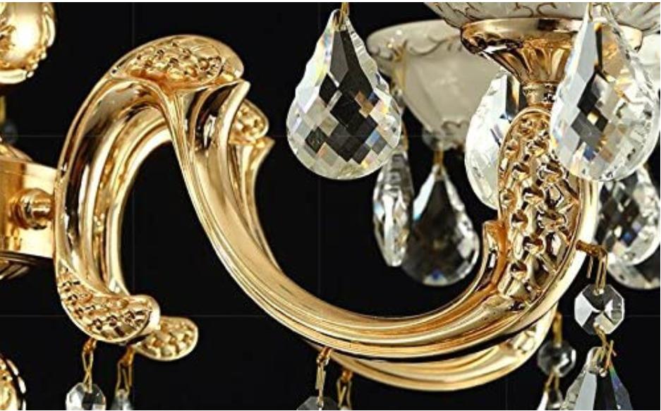 Zinc-Alloy-Heavy-Base-Crystal-Floor-Lamp-Ground-Lamp-Light-Chandelier-Color-Gold 15 Unique Artistic Floor Lamps to Light Your Bedroom