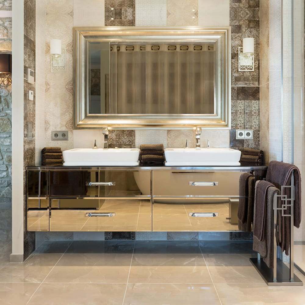 mirrored-vanity-2 Best +60 Ideas to Enhance Your Bathroom's Luxuriousness