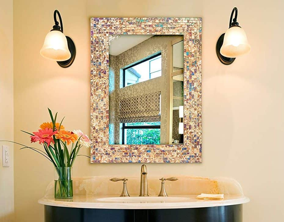 mosaic-style-mirrors Best +60 Ideas to Enhance Your Bathroom's Luxuriousness