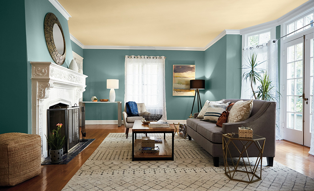 painted-ceiling-1 +70 Unique Ceiling Design Ideas for Your Living Room