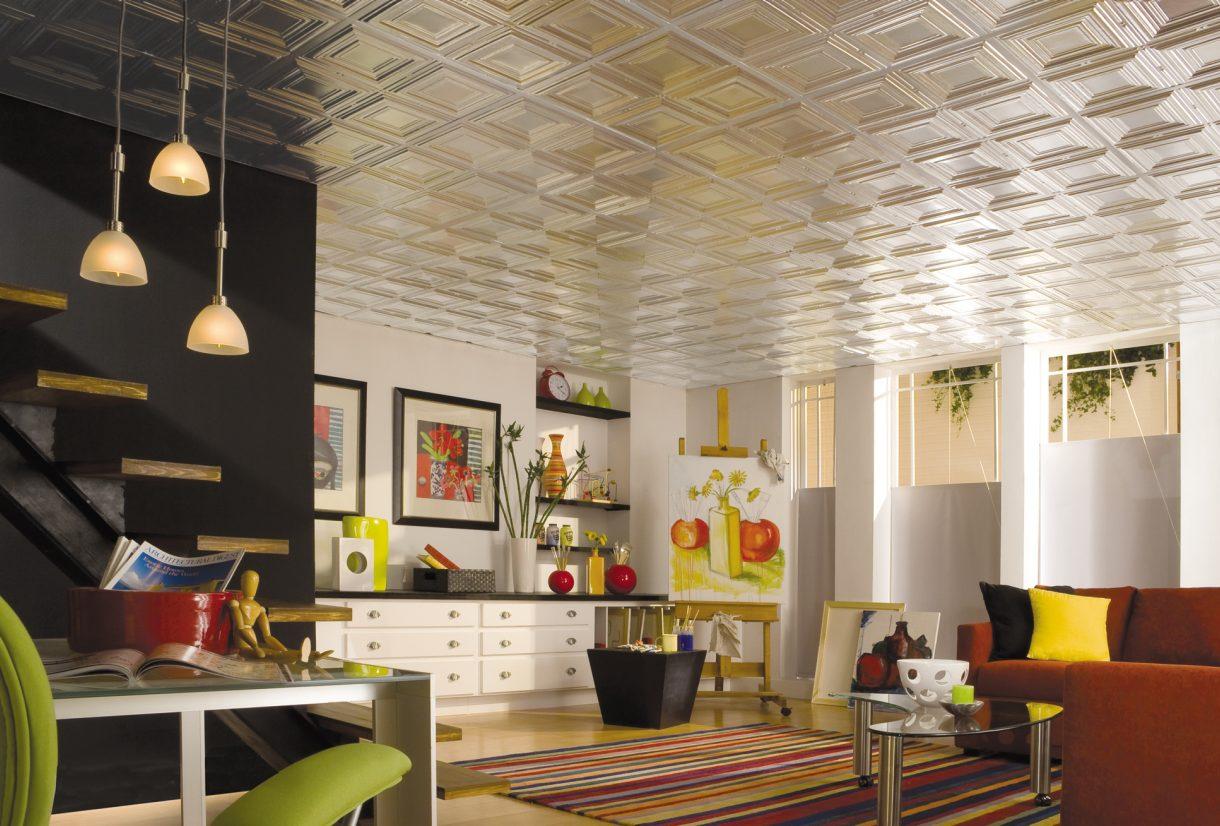 tiles.-1 +70 Unique Ceiling Design Ideas for Your Living Room