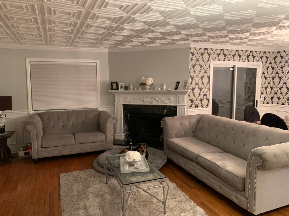tiles +70 Unique Ceiling Design Ideas for Your Living Room