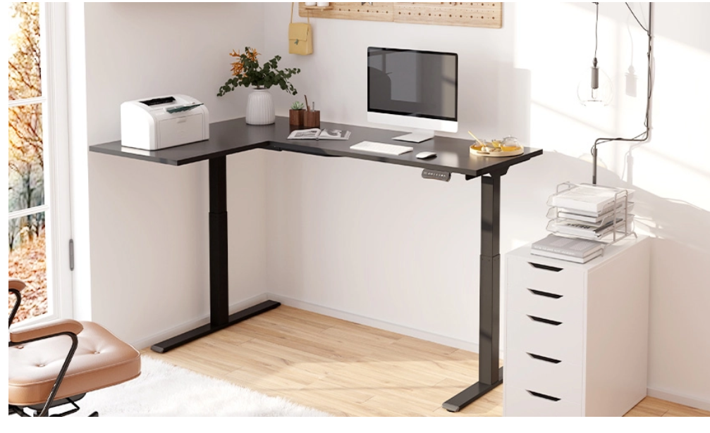 L-Shaped-Standing-Desk. Electric Standing Desks: Which Type Is the Right One for Your Home Office?