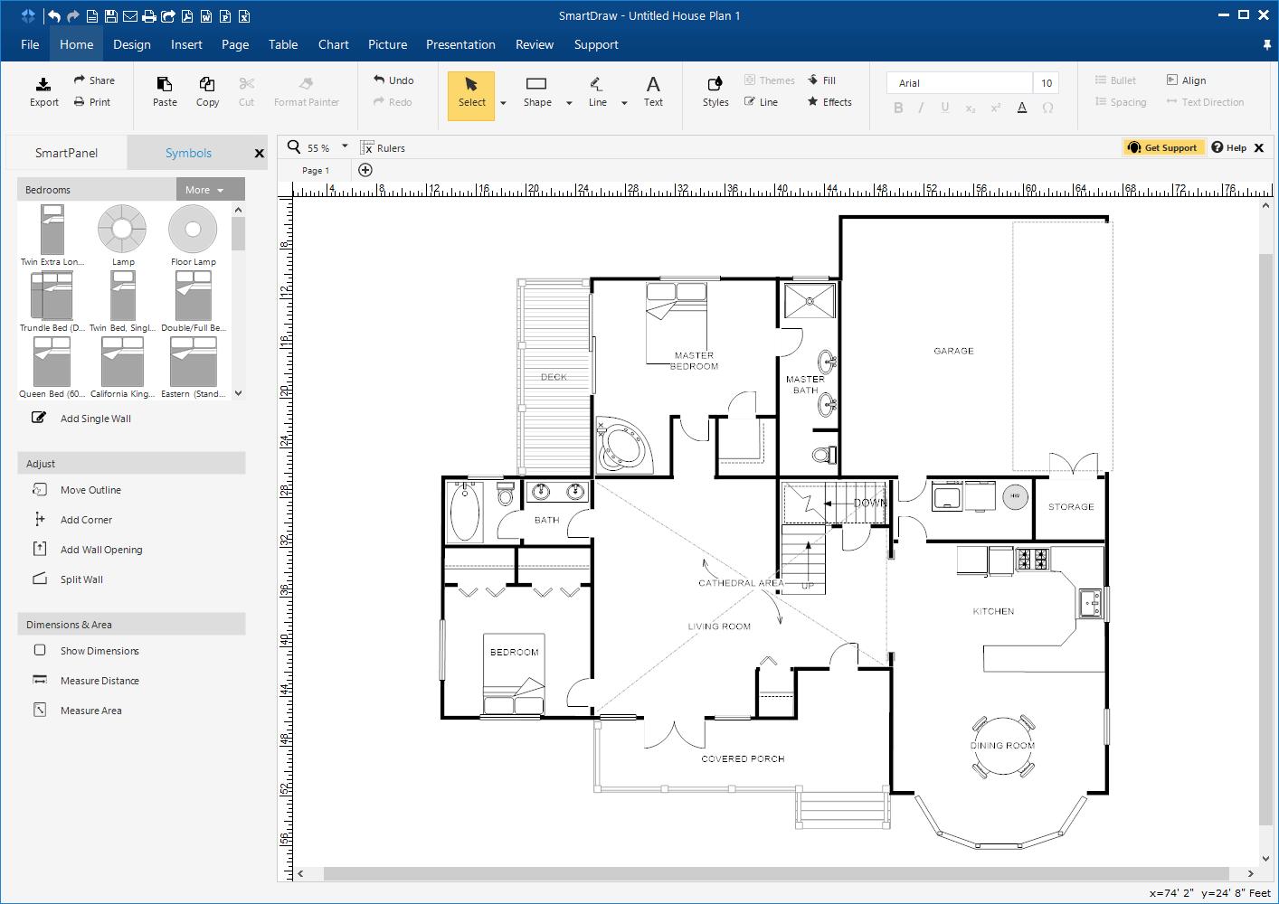 SmartDraw-app 10 Best Online Interior Design Apps
