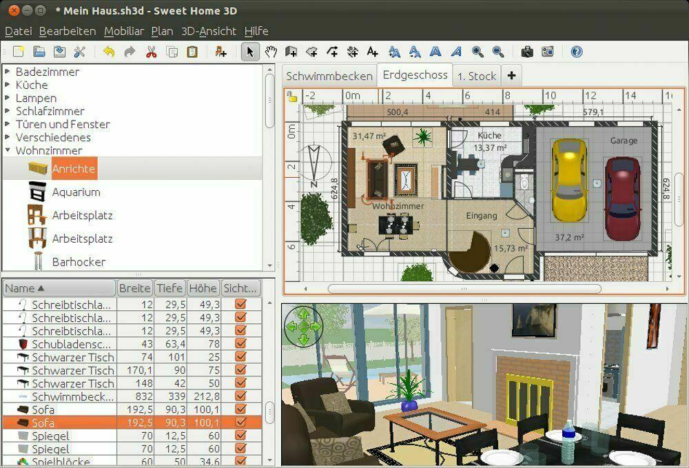 Sweet-Home-3D-app 10 Best Online Interior Design Apps