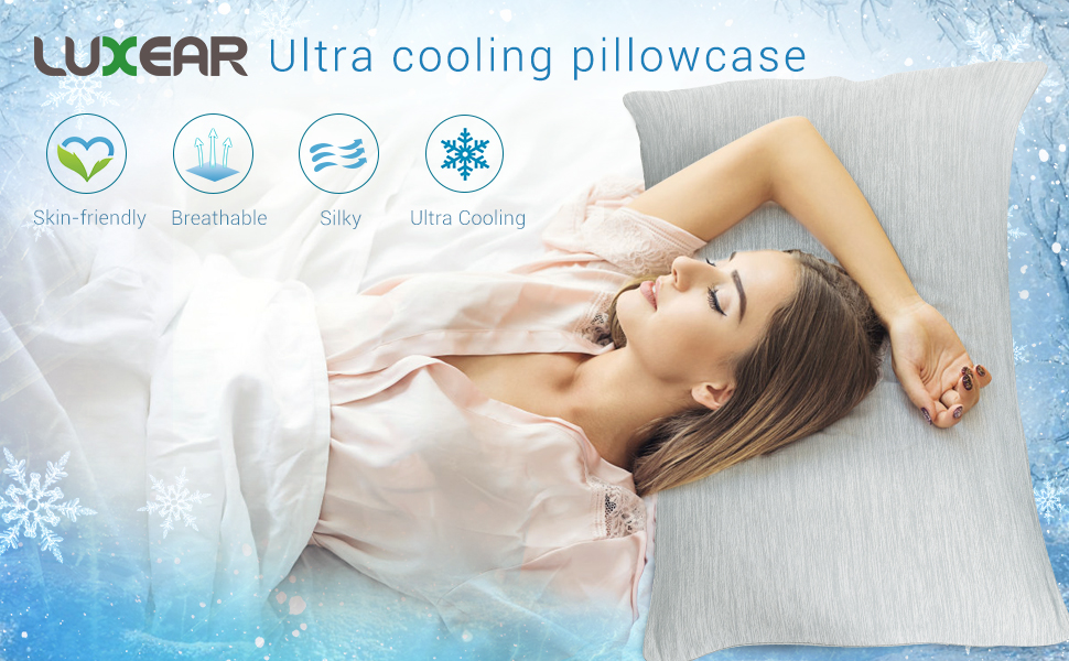 Luxear-Arc-chill-Cooling-Pillowcases. Buy Luxear Arc-Chill Cooling Bedding for Hot Sleepers