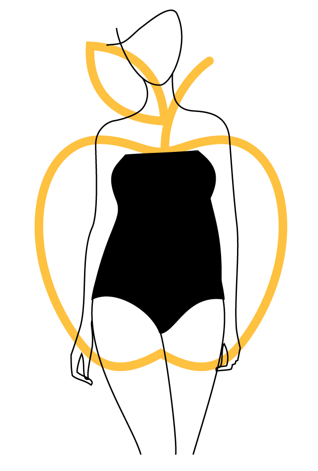 apple-body-shape 10 Secrets of Dressing According to Body Type