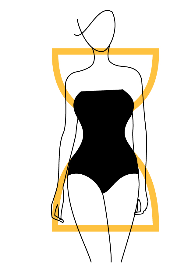 hourglass-body-shape 10 Secrets of Dressing According to Body Type